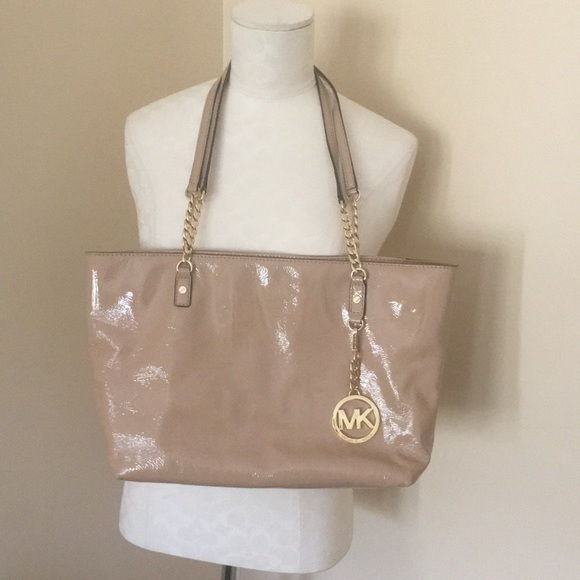5f409c50ed22 MICHAEL Michael Kors Bags | Authentic Michael Kors Tan Patent ...
